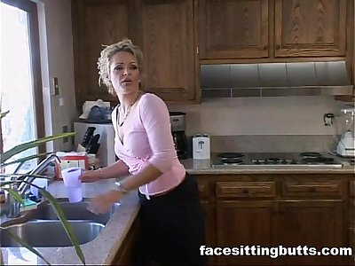 Mature mommy fucks young stud