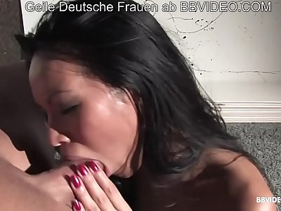 Small tits Filipina fucks her German partner