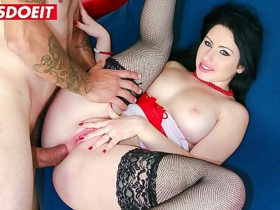 LETSDOEIT - Brunette Italian Teen Gets Both Holes Drilled At Casting