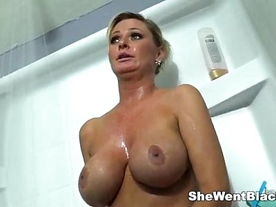 Big Tit MILF Fucked Double Penetrated by Blacks