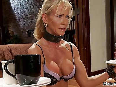 Several different Milfs at slave training